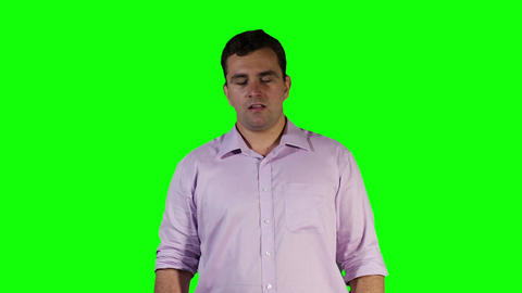 Young Man Keeps Sneezing Green Screen 20 Stock Video Footage