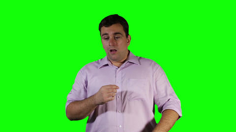 Young Man Keeps Sneezing Green Screen 20 stock footage