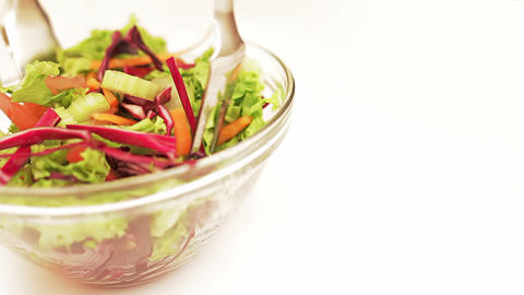 Salad Mixing Stock Video Footage