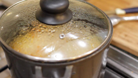 cooking rice 6 Stock Video Footage