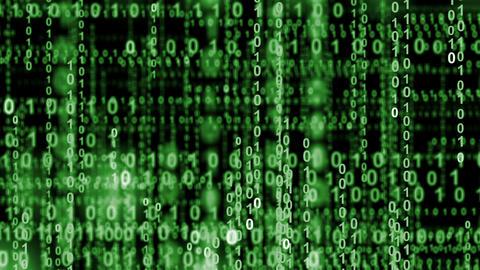 internet binary data highway green 10844 Animation