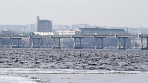 Traffic on a bridge Stock Video Footage