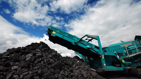 Coal production Stock Video Footage