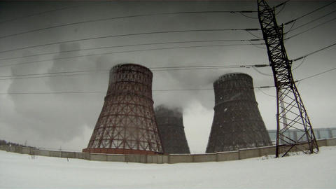 Cooling Towers 3 stock footage