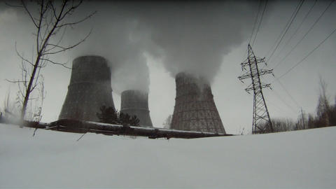 Cooling towers Footage