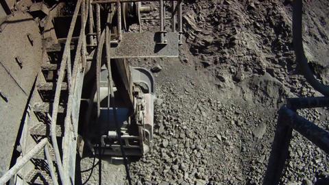 Giant excavator camera Stock Video Footage