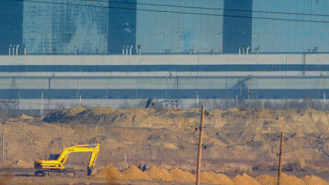 Industrial Construction stock footage