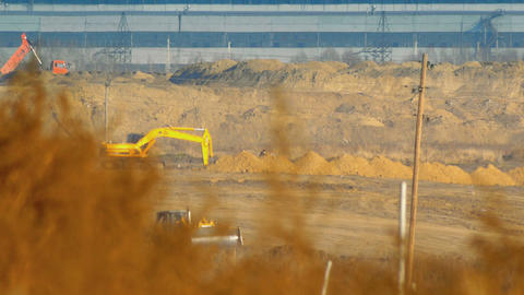 Industrial construction Stock Video Footage