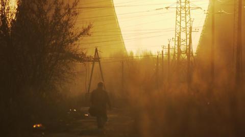 Industrial dawn edit Stock Video Footage