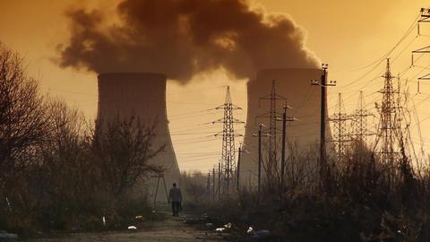 Industrial landscape Footage