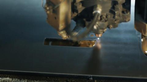 Industrial laser 006 Stock Video Footage
