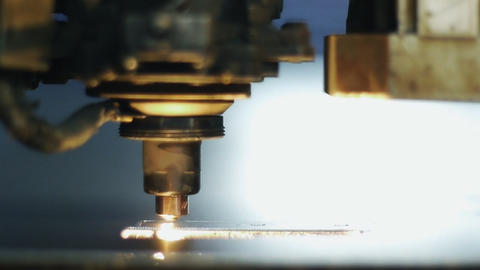 Industrial laser 006 Stock Video Footage