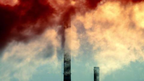 Industrial smoke Footage
