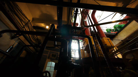 Interior of power station Footage
