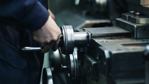 Old milling machine Stock Video Footage