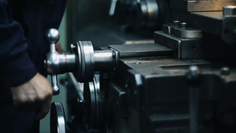Old milling machine 013 Footage