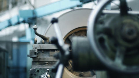Old Milling Machine stock footage