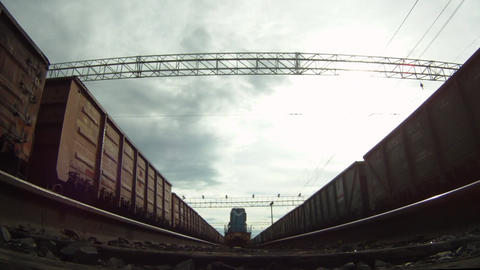 Under locomotive Stock Video Footage