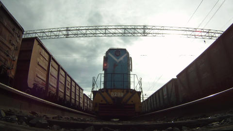 Under locomotive Footage