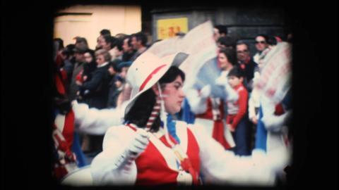 Vintage 8mm. Festive parade Stock Video Footage