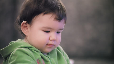 Baby Girl Portrait stock footage