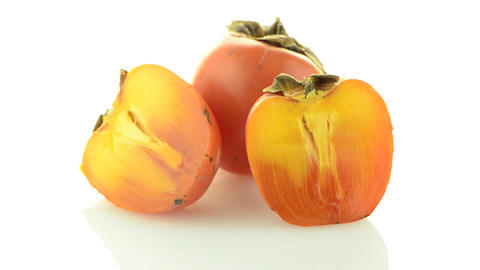 Red ripe persimmons Footage