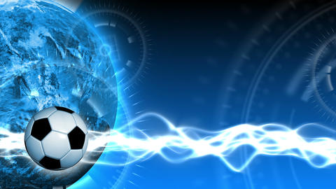 Soccer World Background 46 (HD) Stock Video Footage