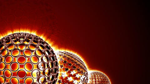 Spherical Elements Background 01 (HD) stock footage