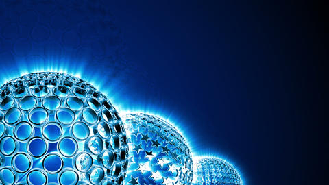Spherical Elements Background 03 (HD) Stock Video Footage