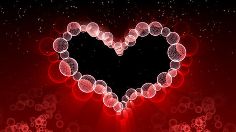 Wedding And Valentine Heart Background - Heart 37 (HD) stock footage