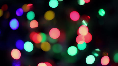 Blinking christmas tree lights Stock Video Footage