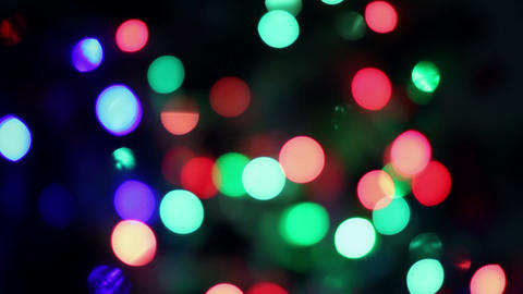 Blinking christmas tree lights Footage