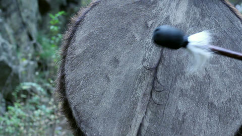 Shaman's Drum stock footage
