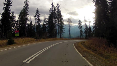 Road Through the Mountains Stock Video Footage
