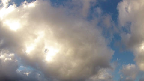 Blue sky with white thick clouds Stock Video Footage