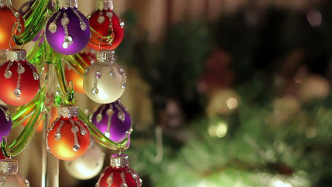 Small glassy herringbone with decorations Stock Video Footage