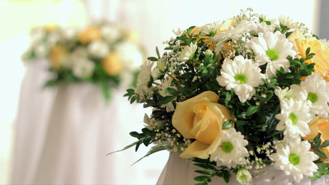 Wedding decorations Stock Video Footage