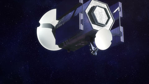 Space satellite Stock Video Footage