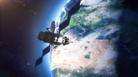 Space Satellite stock footage