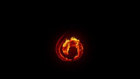 Burning treble clef Stock Video Footage