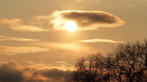 sun through clouds Stock Video Footage