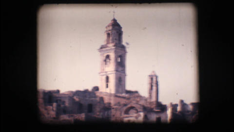 Vintage 8mm. View of Old Bussana Footage