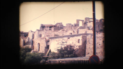 Vintage 8mm. View of Old Bussana Stock Video Footage