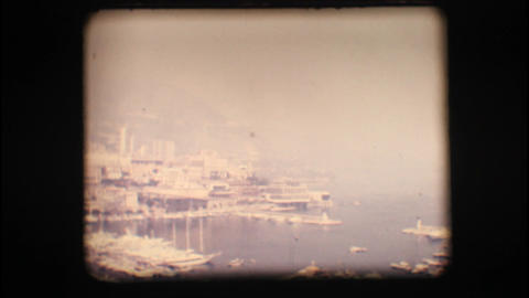 Vintage 8mm. Port of Monaco Stock Video Footage