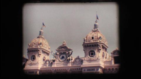 Vintage 8mm. Historic hotel in Monaco Stock Video Footage