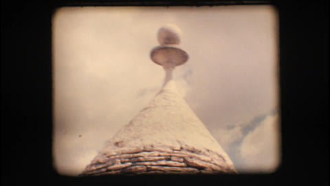Vintage 8mm. Roof of a trullo Footage