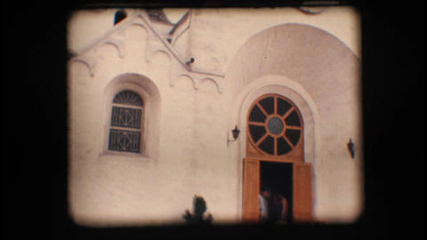 Vintage 8mm. Church in Alberobello Stock Video Footage