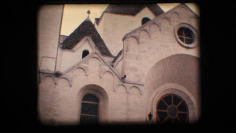 Vintage 8mm. Church In Alberobello stock footage