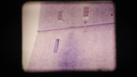Vintage 8mm. Coastal watchtower Stock Video Footage