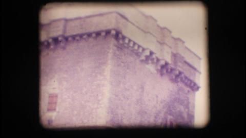 Vintage 8mm. Coastal watchtower Stock Video Footage